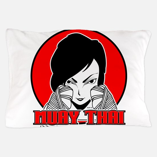Muay Thai girl 1 Pillow Case