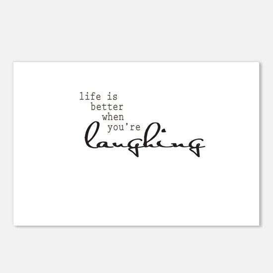 Life is better when youre laughing Postcards (Pack
