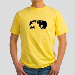 Macho Cat Yellow T-Shirt