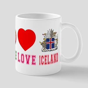 Peace Love Iceland Mug