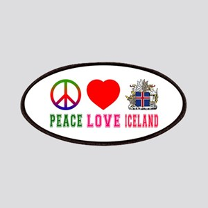 Peace Love Iceland Patches