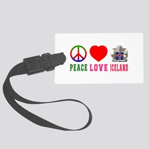 Peace Love Iceland Large Luggage Tag