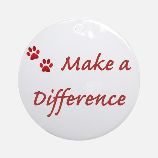 Make a Difference Ornament (Round)
