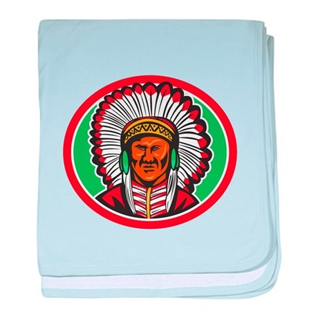 Native American Indian Chief Headdress baby blanke