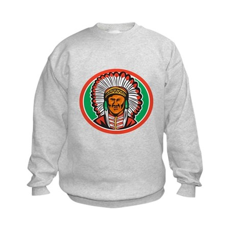Native American Indian Chief Headdress Sweatshirt
