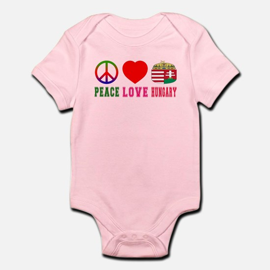 Peace Love Hungary Infant Bodysuit