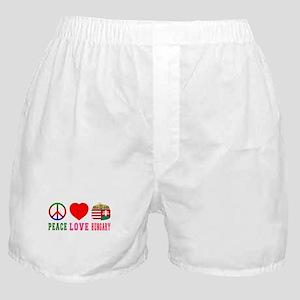 Peace Love Hungary Boxer Shorts