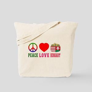 Peace Love Hungary Tote Bag