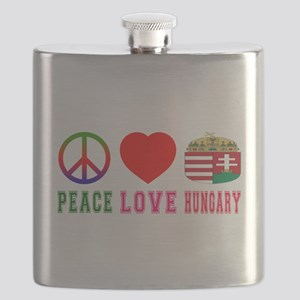 Peace Love Hungary Flask