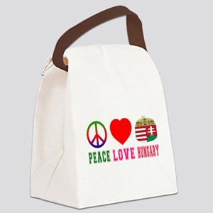 Peace Love Hungary Canvas Lunch Bag