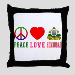 Peace Love Honduras Throw Pillow