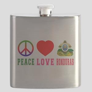 Peace Love Honduras Flask