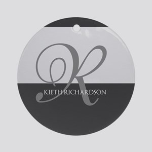 Elegant Custom Monogram Ornament (Round)