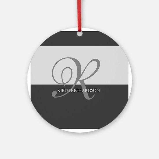 Elegant Custom Monogram Ornament (Round)