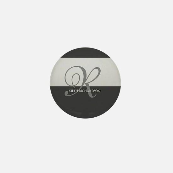 Elegant Custom Monogram Mini Button