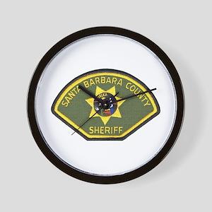 Santa Barbara County Sheriff Wall Clock