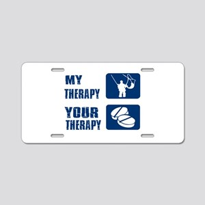 fish is my Therapy Aluminum License Plate