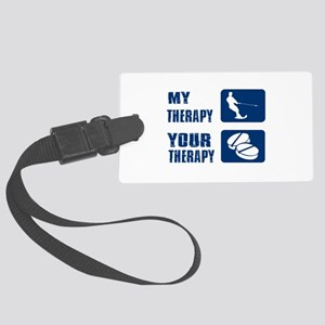 water ski is my Therapy Large Luggage Tag