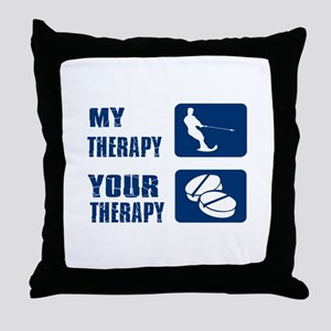 water ski is my Therapy Throw Pillow