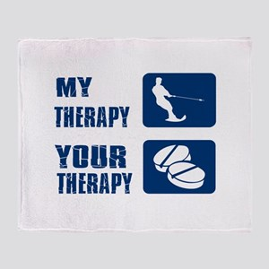 water ski is my Therapy Throw Blanket