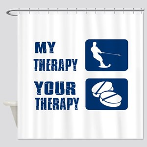 water ski is my Therapy Shower Curtain