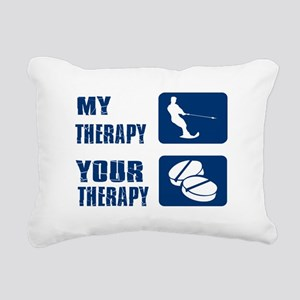 water ski is my Therapy Rectangular Canvas Pillow