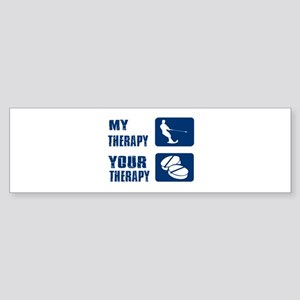 water ski is my Therapy Sticker (Bumper)