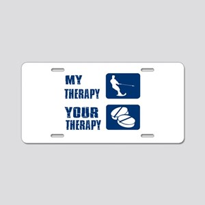 water ski is my Therapy Aluminum License Plate