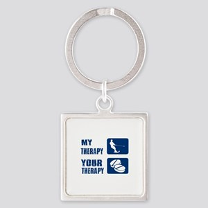 water ski is my Therapy Square Keychain