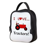 I Love Red Tractors Neoprene Lunch Bag