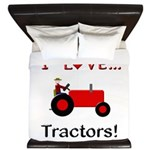 I Love Red Tractors King Duvet