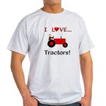 I Love Red Tractors Light T-Shirt