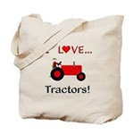 I Love Red Tractors Tote Bag