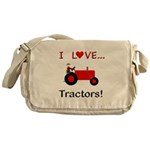 I Love Red Tractors Messenger Bag