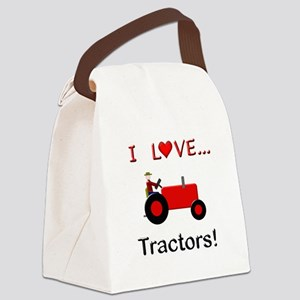 I Love Red Tractors Canvas Lunch Bag