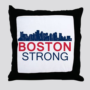 Boston Strong - Skyline Throw Pillow