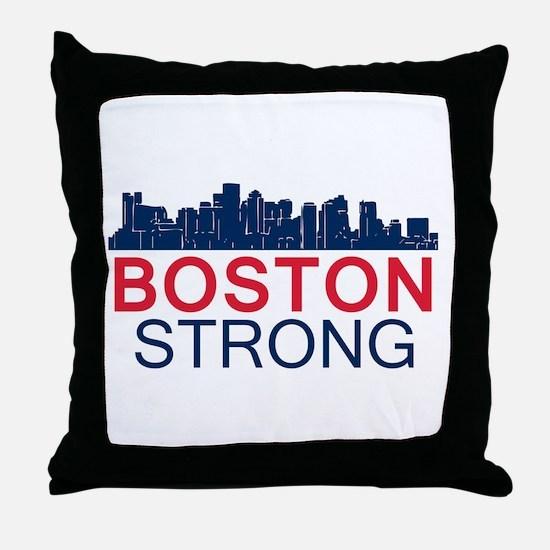 Boston Strong - Skyline Throw Pillow