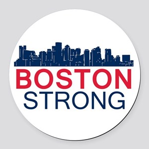 Boston Strong - Skyline Round Car Magnet