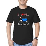 I Love Blue Tractors Men's Fitted T-Shirt (dark)
