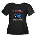 I Love Blue Tractors Women's Plus Size Scoop Neck