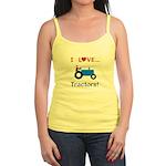 I Love Blue Tractors Jr. Spaghetti Tank