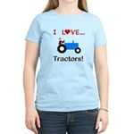 I Love Blue Tractors Women's Light T-Shirt