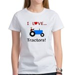 I Love Blue Tractors Women's T-Shirt