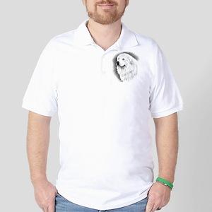 Great Pyrenees Charcoal Portrait Golf Shirt