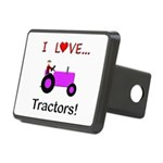 I Love Purple Tractors Rectangular Hitch Cover