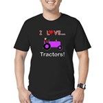 I Love Purple Tractors Men's Fitted T-Shirt (dark)