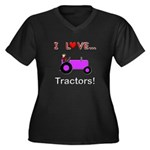 I Love Purple Tractors Women's Plus Size V-Neck Da