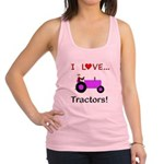 I Love Purple Tractors Racerback Tank Top