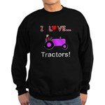 I Love Purple Tractors Sweatshirt (dark)