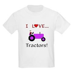 I Love Purple Tractors T-Shirt
